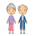 cartoon senior couple vector image vector image