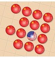 China is the big winner in Go board game vector image vector image