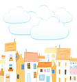 City and clouds for your text vector image vector image