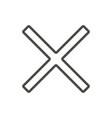 close icon line delete symbol vector image