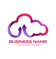 cloud solution logo design and icon vector image