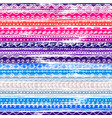 colorful striped seamless pattern with doodle vector image vector image
