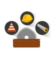 construction tools equipment icon vector image vector image