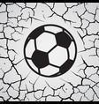 cracks circle football vector image vector image