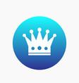 crown icon regal monarch sign vector image vector image
