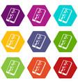 dead pixel smartphone icons set 9 vector image vector image