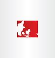 denmark logo map icon vector image vector image