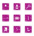devastation icons set grunge style vector image vector image