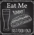 eat me elements on theme restaurant vector image
