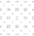 frame icons pattern seamless white background vector image vector image