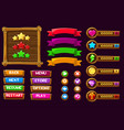 game ui kit complete menu graphical vector image