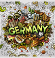 germany hand drawn cartoon doodles vector image vector image
