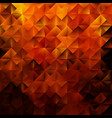 golden geometric triangular pattern vector image vector image