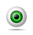 Green Eye on White Background vector image