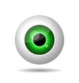 Green Eye on White Background vector image vector image