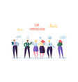 group of business character chatting office people vector image vector image