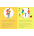 happy family children posters vector image vector image
