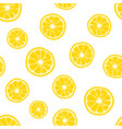 lemon slices pattern citrus background vector image