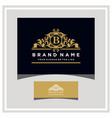 letter b logo design concept royal luxury gold vector image vector image