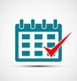 Logo calendar Stock vector image vector image