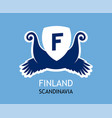 logo for travel company in finland with vector image vector image
