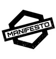 manifesto rubber stamp vector image vector image