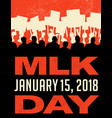 martin luther king day protest march vector image vector image
