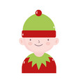 merry christmas helper santa decoration icon vector image