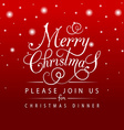 Merry Christmas typography for Christmas greeting vector image vector image