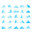 nature or outdoor mountain silhouettes vector image vector image