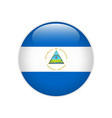 nicaragua flag on button vector image vector image