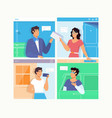 people talking dialog bubble speechchat messages vector image vector image