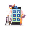 people using smart mobile phone concept for vector image