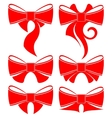 Plain red bow vector image