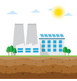 plant powered by solar energy vector image
