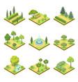 public park landscapes isometric 3d set vector image vector image