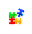 puzzle colored sign group art game icon idea vector image vector image