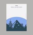 pyramid giza egypt vintage style landmark poster vector image