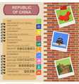 Republic of China infographics statistical data vector image