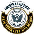 Retro emblem Heraldic elements vector image vector image