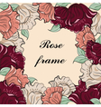 Rose flower vintage frame vector image