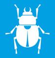 scarab icon white vector image vector image