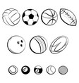 set balls collection gaming balls black vector image vector image