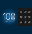 set of anniversary logotype silver anniversary vector image vector image
