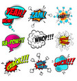 set of comic style speech bubbles with sound text vector image vector image