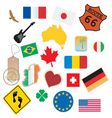 set of flags and signs vector image