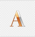 silver and gold font symbol alphabet letter a vector image