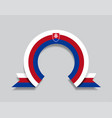 slovak flag rounded abstract background vector image vector image