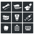 Stomatology Icons Set vector image vector image