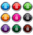 suitcase on wheels set 9 collection vector image vector image
